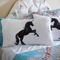 Aeropostale  Unicorn Pillow Sham 2-Pack - White, Twin