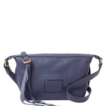 See by Chloe Women's Small Buckle & Tassel Pull Leather Crossbody - Blue