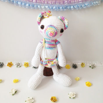 Amigurumi Bear Amigurumi Teddy Bear Crochet Bear Stuffed Animal Stuffed Toy Bear Kids Toy Kawaii Pastel Bear Plush Gift Ideas