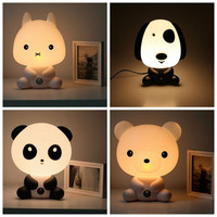 Panda/Rabbit/Dog/Cat Cartoon Night Light Lamp