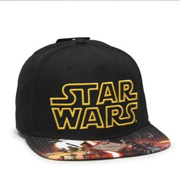 Star Wars Episode 7 Poster Sublimated Flat Brim Snapback Baseball Cap