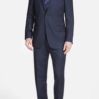 Hart Schaffner Marx 'New York' Classic Fit Check Wool Suit