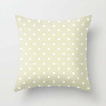 Polka Party Pearl Throw Pillow by Shawn Terry King