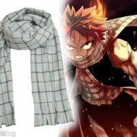 HOT Anime Fairy Tail Natsu Dragneel Scarf Cosplay Costume Toy Gift