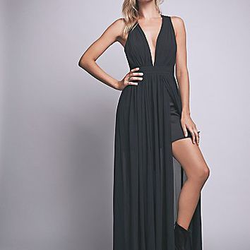 Free People Womens Athea Drape Maxi