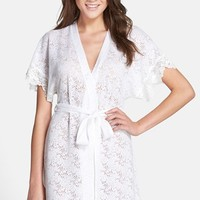 Women's In Bloom by Jonquil Lace Trim Burnout Wrap