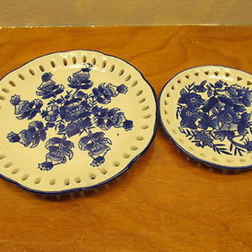 VINTAGE FLO BLUE DECORATIVE PLATES
