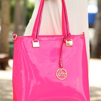 Nothing Stopping Me Purse: Neon Pink