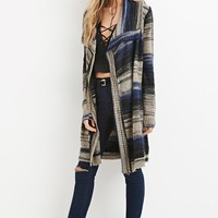 Textured Mix-Stripe Cardigan