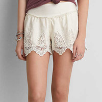 AEO LACE RUFFLE SOFT SHORTS