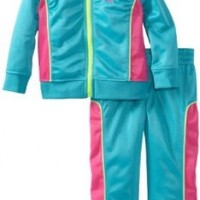 PUMA Little Girls' Toddler Tricot Track Jacket And Pant Set, Bluebird, 4T