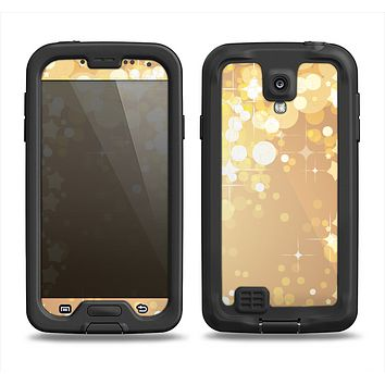 The Gold Unfocused Sparkles Samsung Galaxy S4 LifeProof Fre Case Skin Set