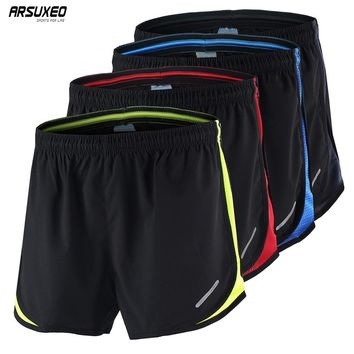 "ARSUXEO Mens Summer Sports 3"" Marathon Running Shorts Training Jogging Athletic Shorts Breathable Quick Dry Run Shorts B165"