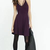 Cut-out V-neck Skater Dress from EXPRESS