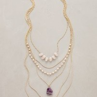 Violett Layer Necklace by Anthropologie in Purple Motif Size: All Necklaces
