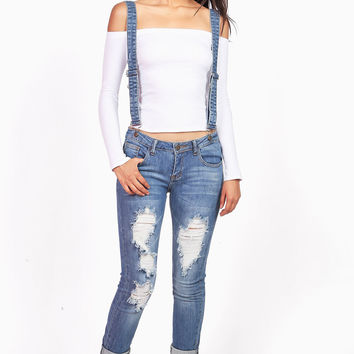 Low Suspension Skinny Jeans
