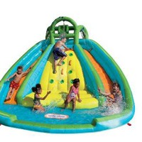 Rocky Mountain Climb River Race Inflatable Outdoor Slide Splash Bouncer-2 day Free Shipping!
