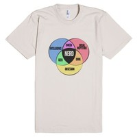 Nerd Venn Diagram-Unisex Natural T-Shirt
