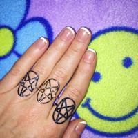 Pentagram Outline Ring