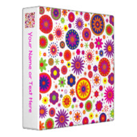 Hippy Rainbow Flowers Binders