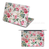 Flower macbook decal apple macbook keyboard cover macbook decals laptop decal macboo air stickers macbook pro skin