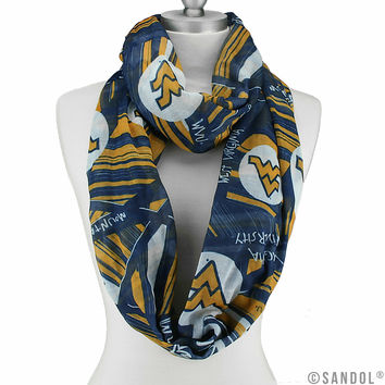 West Virginia Mountaineers Infinity Scarf