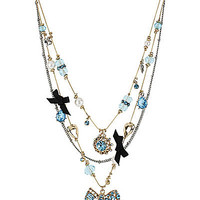 BetseyJohnson.com - BOW ILLUSION NECKLACE BLUE