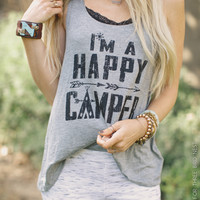 I'm A Happy Camper Tank - Three Bird Nest | Women's Boho Clothing & Cute Indie Accessories