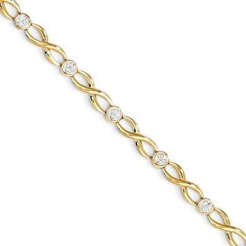 14k Yellow Gold Fancy Diamond Tennis Bracelet