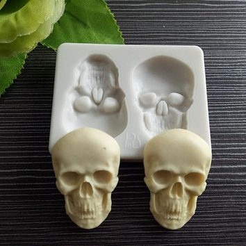 Skeleton Head Skull Silicone Cake Decoration Mold Tool