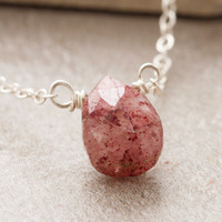 Root Chakra Teardrop Gem Necklace