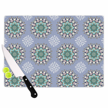 "Nika Martinez ""Princess In Purple"" Green Arabesque Cutting Board"