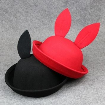 Summer Baby Bucket Hat Outdoor Rabbit Ears Children Sun Cap Kids Boys Girls Fishing Caps