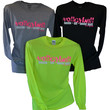 Hustle - Hit- Never Quit Long Sleeve Volleyball Shirt