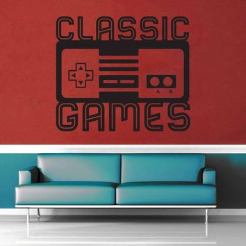 Classic Games - Gamer Décor - Wall Decal$8.95