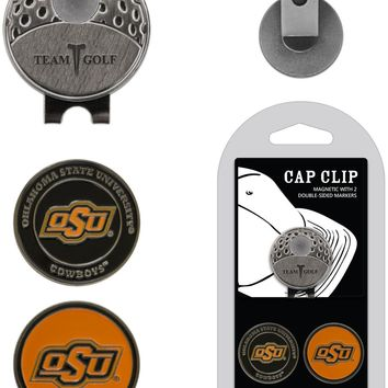 NCAA Oklahoma State Cowboys Hat Clip & 2 Magnetic Golf Ball Markers