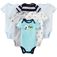 Walmart: Child of Mine by Carter's Newborn Baby Boy Assorted Bodysuits, 6-Pack