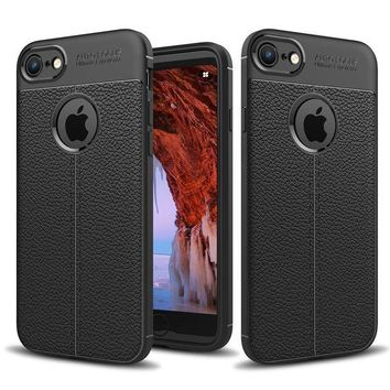 ONETOW iPhone 8 Case,iPhone 7 Case, cresawis Lightweight Ultra Slim Thin Carbon Fiber Scratch Resistant [Shock Absorption] Soft TPU Protective Cover For iPhone 8 (2017) / iPhone 7 (2016) -Black