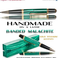 Fathers Day Pen Sale 25 Malachite Ballpoint pen with by TrobeePens