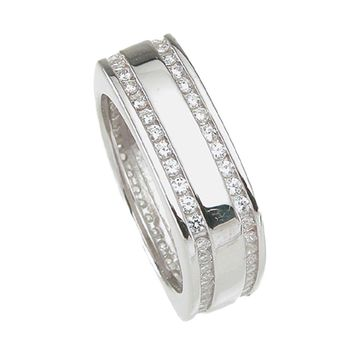 925 Sterling Silver Mens Wedding Band 1 Carat Weight- Size 8