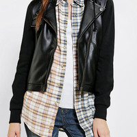 Stussy Vegan Leather Moto Jacket