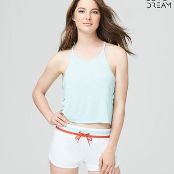 LLD Lace-Up Sides Crop Tank - Aeropostale