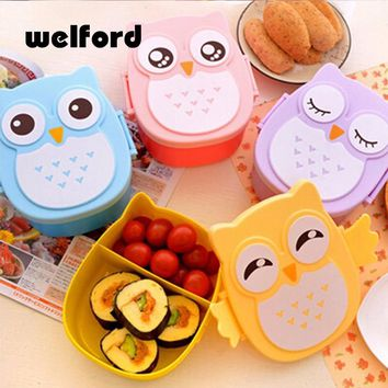 Cartoon Owl Lunch Box For Kids Meal prep Boxes Lunchbox Storage School Outdoor Thermos For Japanese Food Bento Box Picnic Set