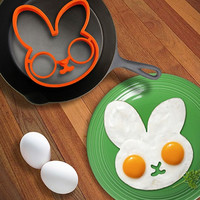 Rabbit Head Shaped Silicone Egg Mold Omelet Creative Fried Egg Molds Cooking Molds Ring Kitchen Tool