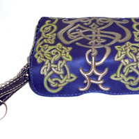 "Leather Case ""Heraldry"". Protective Pouch key. Use thin Hand-Carved technology on the leather, special paints. Privat Design. Exclusive gift"