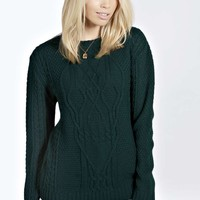 Lucy Skull Cable Knit Jumper
