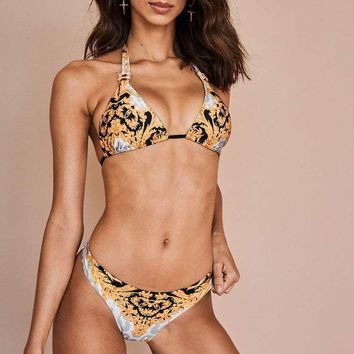 Sauvage Dolce Vita Jeweled Low Rise Bikini Set