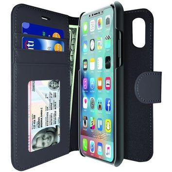 iLuv 360 Credit Card drop impact Wallet 2in1 phone case cover for iphone x 10