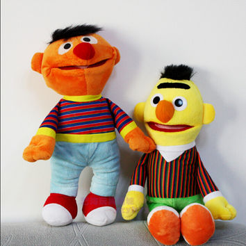 2pcs/lot Cartoon Plush Toys Sesame Street Ernie And Bert Super Quality Hot Selling