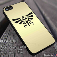 Legend of Zelda | Triforce | Hylian Crest Gold iPhone 6s 6 6s+ 6plus Cases Samsung Galaxy s5 s6 Edge+ NOTE 5 4 3 #cartoon #anime #TheLegendOfZelda #game dl2